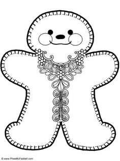 gingerbread man coloring pages 5