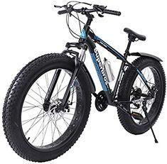 Amazon.com : ZipChic Fat Tire Mountain Bike, 17-Inch/Medium High-Tensile Aluminum Frame, 21-Speed, 26-inch Wheels Road Bicyle : Sports & Outdoors Mountain Bike Shop, Riding Mountain, Best Mountain Bikes, Mountain Biking, Bicicletas Mongoose, Bmx Bikes, Tandem Bikes, Road Bikes