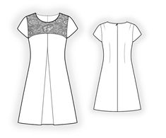 Dress - Sewing Pattern #4363. Made-to-measure sewing pattern from Lekala with free online download.