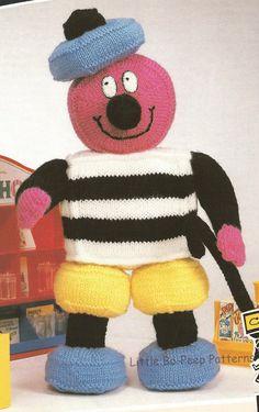 Bertie Bassett Liquorice Allsorts Toy Toys PDF by BoPeepStore, Doll Toys, Dolls, Liquorice Allsorts, Vintage Soft, Crochet Toys, Knitting Toys, Knitting Projects, Baby Knitting, Knit Crochet