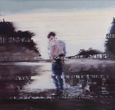 Index - Andy Denzler - www.andydenzler.com Purple Leaves Fall into the Water, 2013, Oil on canvas, 170 x 180 cm