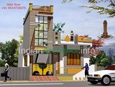 Changeriya ji House Plan & Exterior Design at Neemuch Home Map Design, Modern Home Interior Design, Home Building Design, Bungalow House Design, House Front Design, Villa Design, Small House Design, Front Elevation Designs, House Elevation