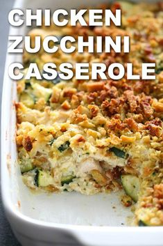 Zucchini Recipes for Summer that are healthy and tasty - Hike n Dip Wondering what to make with Zucchini? Learn easy, quick and delicious zucchini recipes from all over the web at one place. From Zucchini Noodles to bread & Wallpaper Food, Chicken Zucchini Casserole, Cheesy Zucchini Bake, Zucchini Lasagna, Recipe For Chicken Casserole, Zuchinni Bake, Chicken Potato Bake, Loaded Cauliflower Casserole, Crock Pot Recipes