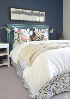 Guest Bedroom Design Ideas: A Cozy, Chic Guest Room Retreat Update (Part Guest Bedroom Decor, Guest Bedrooms, Home Bedroom, Master Bedroom, Bedroom Ideas, Fall Bedroom, Bedroom Designs, Cottage Bedrooms, Bedroom Colors