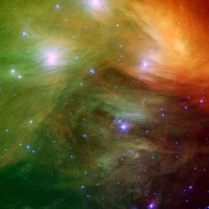 Pleiades (Seven Sisters) - infrared image from NASA's Spitzer Space Telescope