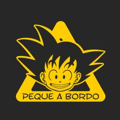bebe a bordo goku dragon ball personalizable