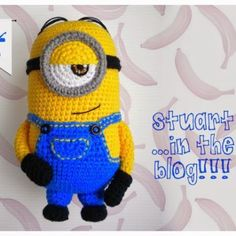 Stuart Minion – Free Crochet Pattern Not too long ago I posted a crochet pattern for an amigurumi minion. His name is Kevin. If you are looking to crochet an entire SET of these cute guys, fe… Crochet For Kids, Diy Crochet, Crochet Crafts, Crochet Dolls, Crochet Projects, Minion Crochet Patterns, Minion Pattern, Amigurumi Patterns, Crochet Disney