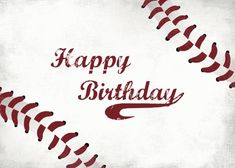 Grungy used baseball sets the tone for a happy birthday for the sports lover. Free online Send Baseball Birthday Wishes ecards on Birthday Happy Birthday Baseball, Happt Birthday, Happy Birthday Wishes For Him, Happy Birthday Beautiful, First Birthday Banners, Birthday Wishes Quotes, Happy Birthday Sister, Happy Birthday Funny, Happy Birthday Greetings