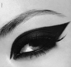 Image Detail for - black and white, eye, eyes, make-up, makeup - inspiring picture on ...