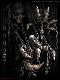 Skull Art by Michael Anthony Gonzalez.☠️