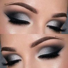 Dramatic Black and Silver Eye Makeup Look Dramatic Black and Silver Eye Makeup Look,Lidschatten Farben Dramatic Black and Silver Eye Makeup Look Related posts:- Trendy Wedding Makeup Silver Smokey Eye - Smokey. Prom Eye Makeup, Dramatic Eye Makeup, Eye Makeup Tips, Beauty Makeup, Makeup Ideas, Beauty Tips, Makeup Tutorials, Makeup Hacks, Beauty Hacks