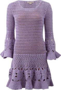MICHAEL KORS Floral Hand-Crochet Dress #fashion