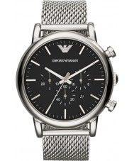 Mens Emporio Armani Mens Classic Chronograph Silver Mesh Bracelet Watch 174.00 Watches2U