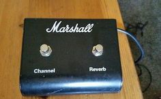 Vintage Marshall Channel Reverb Guitar Amp Multi Channel Footswitch Pedal JCM800