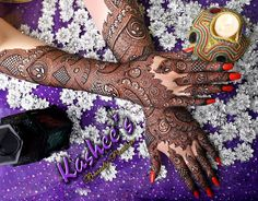 Lovely bridal mehndi design by kashee 's beauty parlour