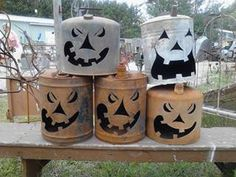Recycle, Reuse, Rethink, Repurpose-Gas Can Jack-O-Lantern at Gold'n Country Gifts llc, Facebook