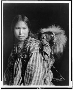 Inuit woman and child