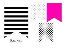 Printable Kate Spade inspired banner.