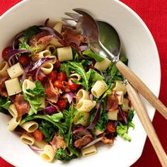 This BLT pasta serves up beloved flavors in a delectable new way. #dinner #recipe