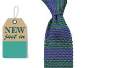 Augustus Hare - Hemingway - Blue silk knitted tie – Joe's Store