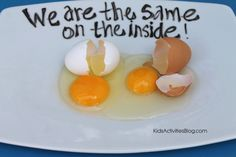 Martin Luther King Activity: Egg Activity- What are ways you talk about diversity with your kids?
