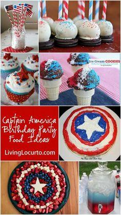 Fun Captain America Birthday Party Food Ideas at LivingLocurto.com