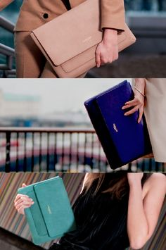 Laptop cases that look like beautifully classic clutches? Yes please.