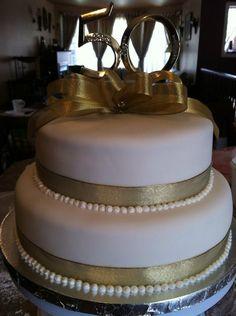 50th anniversary cake 50th Wedding Anniversary Cakes, Anniversary Parties, Anniversary Ideas, 50th Cake, Cake Images, Beautiful Wedding Cakes, Cake Decorating, Decorating Ideas, Cake Ideas