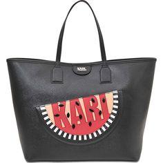 Karl Lagerfeld K Watermelon tote (2 730 SEK) ❤ liked on Polyvore featuring bags, handbags, tote bags, black, tote shoulder bag, man bag, handbags tote bags, shoulder bag purse and shoulder hand bags