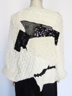 WORTHWHILE  Junya Watanabe patchwork sweater