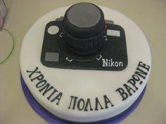 Τούρτες Γενεθλίων - Φωτογραφική Μηχανή! #sugarela #TourtesGenethlion #FotografikiMixani #Camera #BirthdayCake