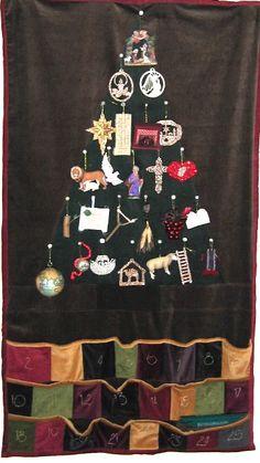 12 Days of {handmade} Christmas Tutorials::Day 10 Advent Calendar/Jesse Tree Ideas