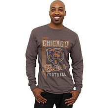 Men's Chicago Bears Vintage Vertical Lines Long Sleeve T-Shirt - NFLShop.com