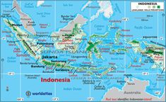 indonesia map | LARGE COLOR MAP