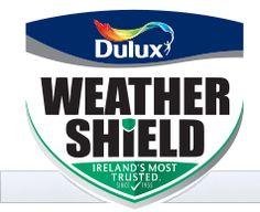 Knock na Ri exterior colour scheme ideas from Dulux Weathershield Ireland Exterior Color Schemes, Exterior Paint Colors, Paint Colours, Black Front Doors, Front Door Colors, Dulux Weathershield Colours, Window Reveal, Brick Cladding, Dulux Paint