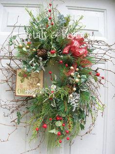 CHRISTMAS HOLIDAY SIGN, FLORAL DOOR WREATH, ARRANGEMENTS   eBay