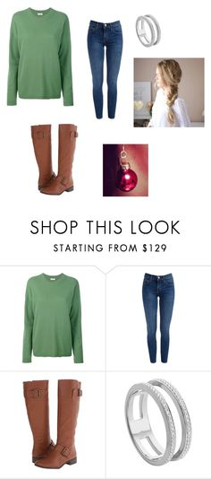 """Christmas Tree"" by sailortwift99 ❤ liked on Polyvore featuring Equipment, Nine West and Monica Vinader"
