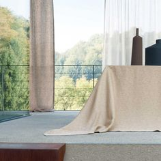 """Farn"" Table cloth by Leitner Leinen · www.labella-amara.com Linen Bedding, Curtains, Dreams, Table, Home Decor, Linen Fabric, Linen Sheets, Blinds, Interior Design"