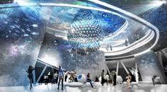 강정보 홍보관 Exposition Interactive, Interactive Exhibition, Museum Exhibition Design, Design Museum, Origami Architecture, Architecture Design, Visit Dallas, Sci Fi City, Museum Displays