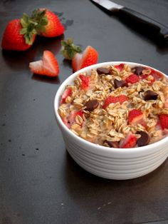 Strawberry Chocolate Chip Baked Oatmeal