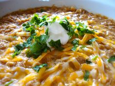 White chicken chili...I've made this so many times...it's delicious!