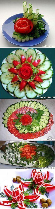 Wonderful veggie and fruit platter ideas ▲Красивая подача овощных нарезок▲