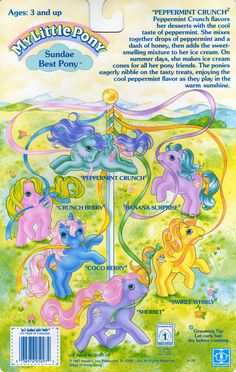 My Little Pony Sundae Best Ice Cream Back Card