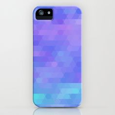 abstract geometric triangle mosaic - purple, aqua, lavender iPhone & iPod Case by Tina Lavoie's Glimmersmith - $35.00
