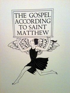 The Gospel According to Saint Matthew, chapter page for the King James Bible, Eric Gill