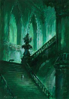 Stairway to underground columns