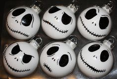 Jack Skellington Halloween Tree Bulbs.