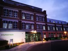 Nuffield Health York Hospital exterior view.  Private hospital offering a range of specialist services with rapid access.