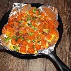 sweet potato tot breakfast skillet