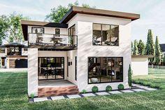 Modern Floor Plans, Modern House Plans, Modern House Design, Modern Exterior House Designs, Modern Beach Houses, Home Building Design, Building A House, Home Design Plans, Modern Mediterranean Homes
